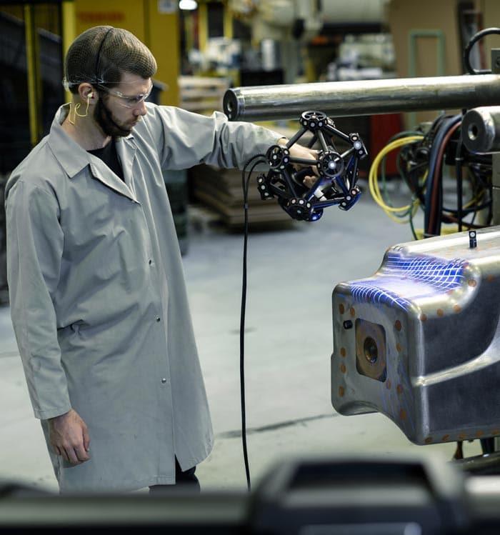 metrascan3d industrial mold scanning versatility