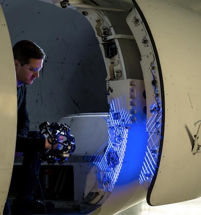 metrascan3d quality control scanning plane door accuracy resolution