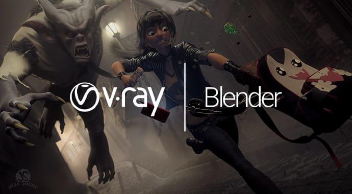v ray blender