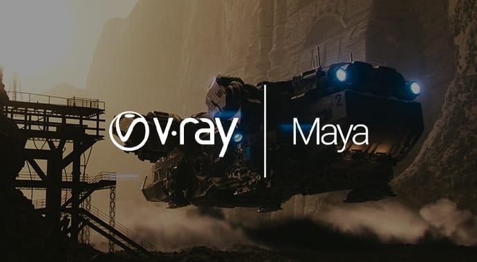 v ray maya
