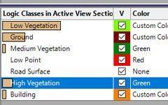 Point cloud LAS classification in AutoCAD