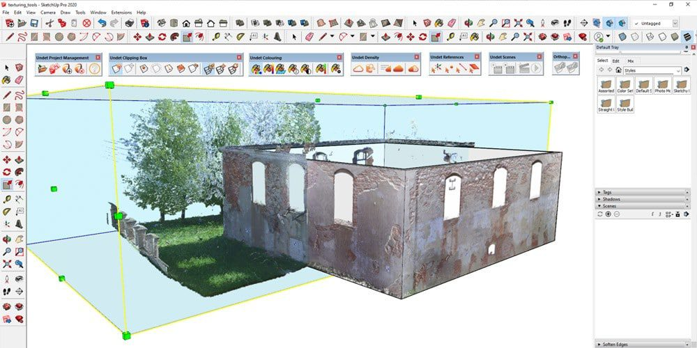 Undet for SketchUp new texturing tools