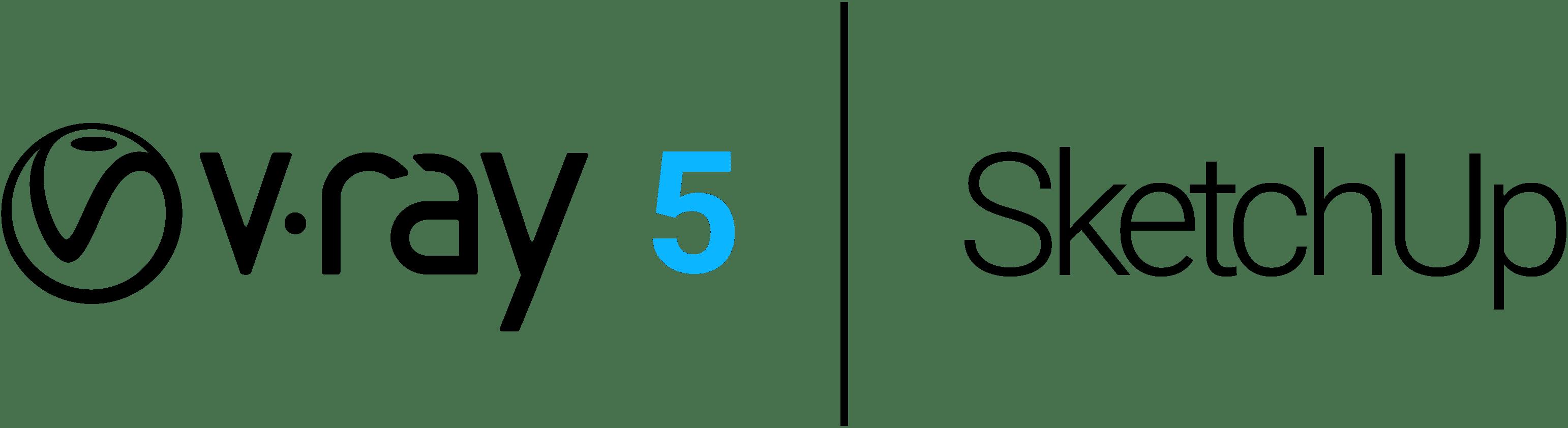 V Ray 5 SketchUp logo b